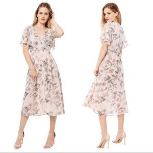 Willow & Clay Floral Maxi Dress Size 2 NWT